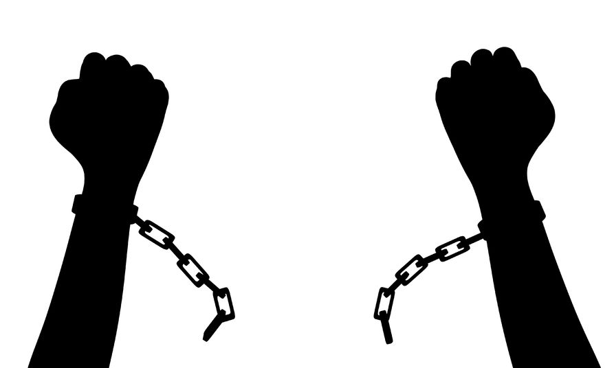 the breaking of the shackles of discrimination