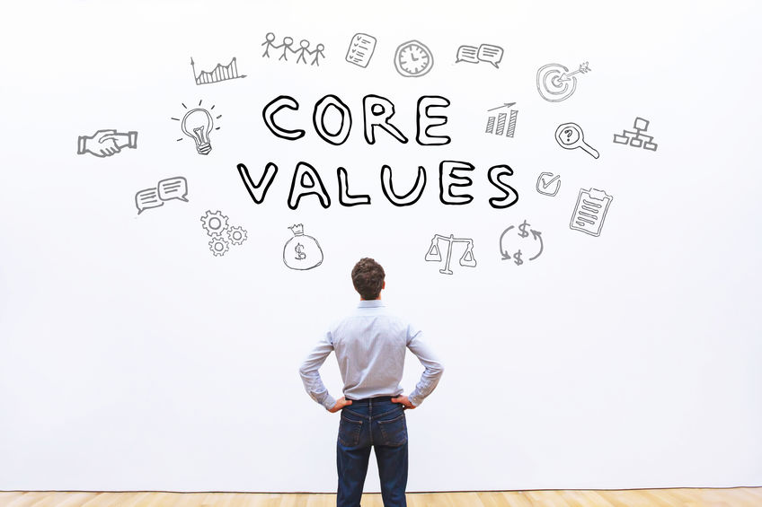 core-values-on-wall