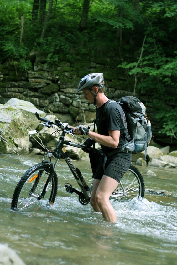 cyclist-in-river-Michael Bugnay Stanier