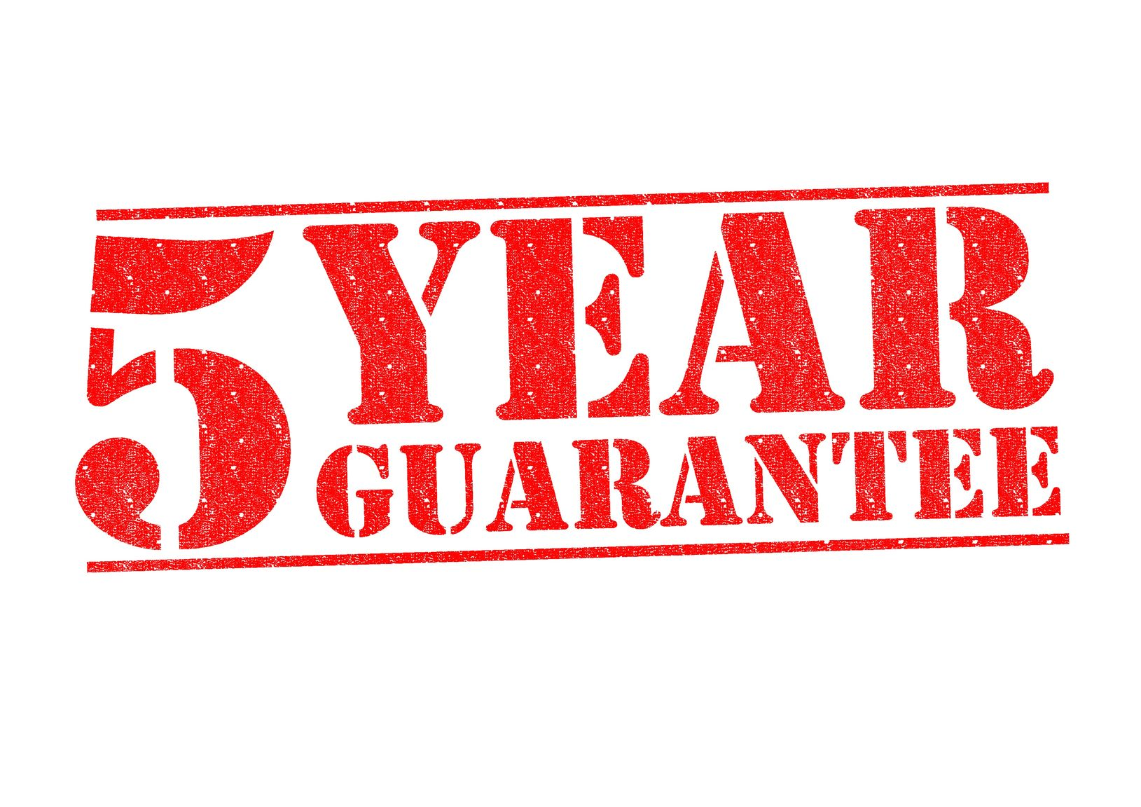 five-year-gaurantee-sign