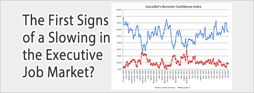 The First Signs of a Slowing in the Executive Job Market?