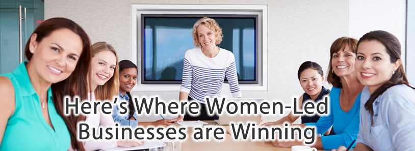 Here's Where Women-Led Businesses are Winning