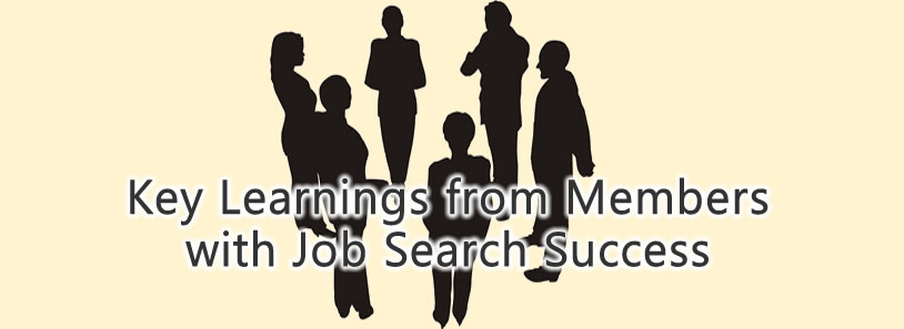 Key Learnings from Members with Job Search Success