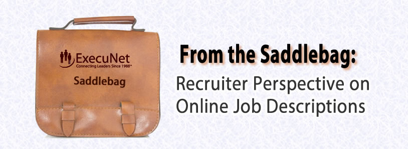 From the Saddlebag: Recruiter Perspective on Online Job Descriptions