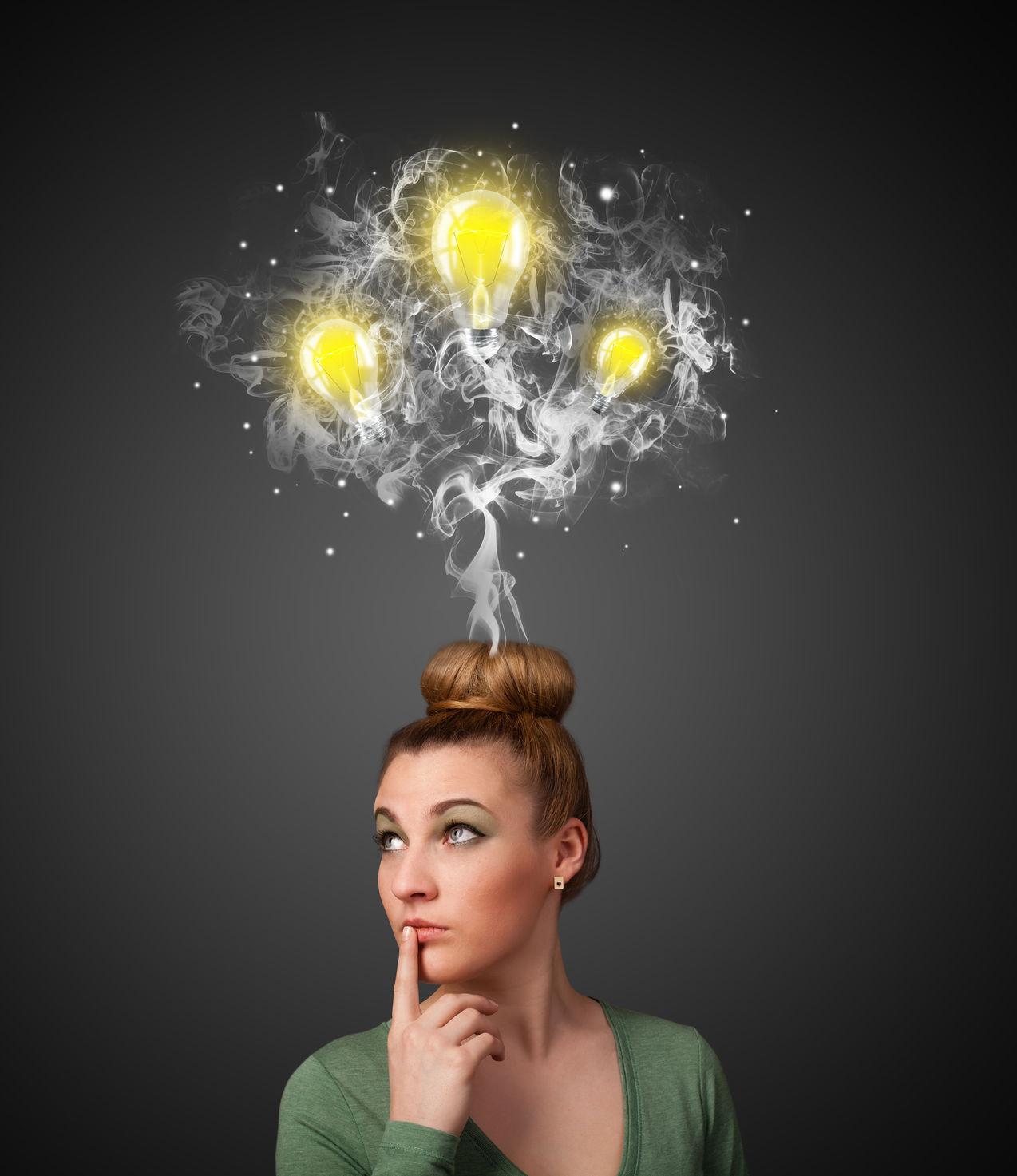 lightbulbs-over-woman