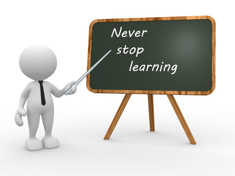 never-stop-learning-on-chalkboard-Mark Anderson