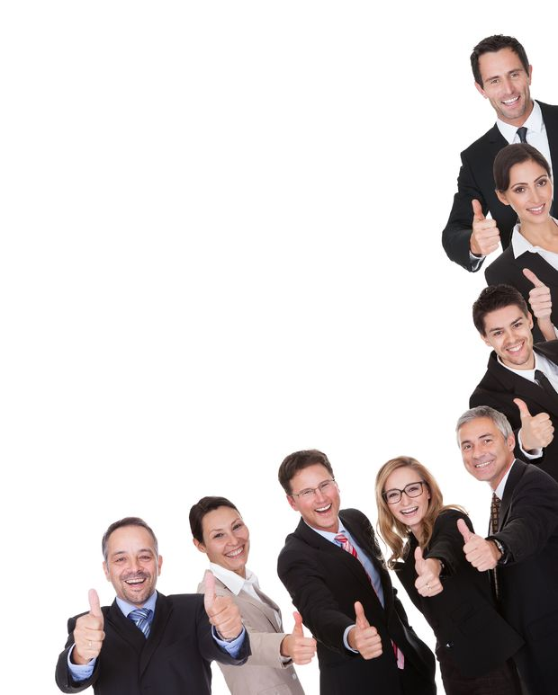 thumbs-up-business-people