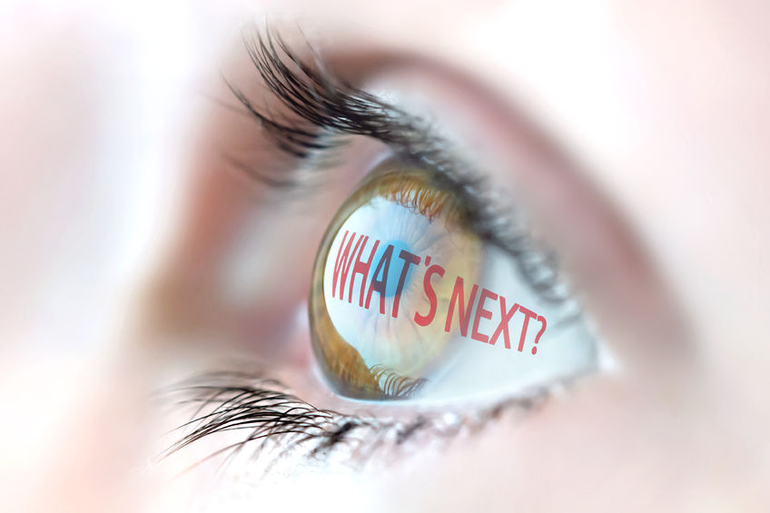 what's next? reflection in eye.