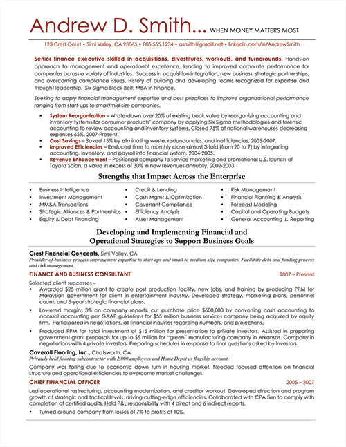 Value Centric Resume