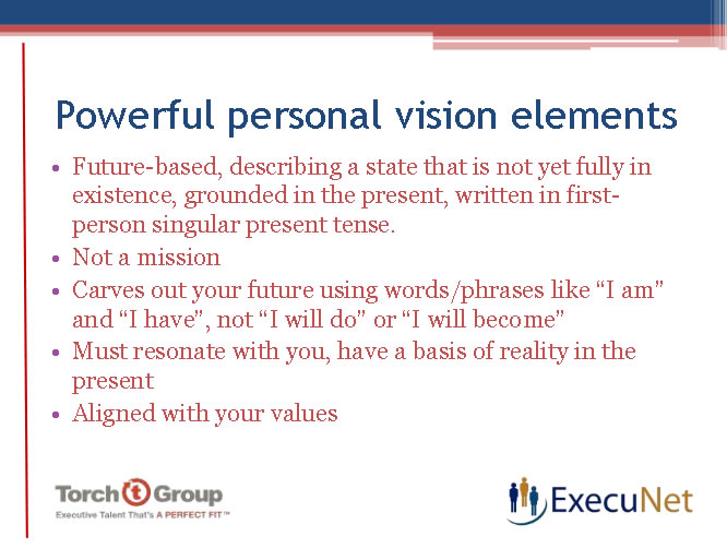 execunet personal vision statement  necessary to becoming a great leader