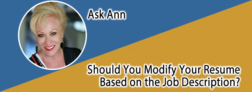 Should You Modify Your Resume Based on the Job Description?