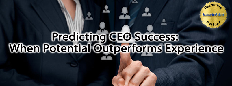Predicting CEO Success: When Potential Outperforms Experience